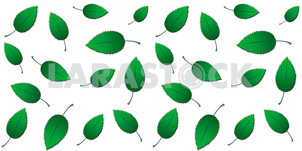 Fresh spring seamless eco background with green gradient leaves