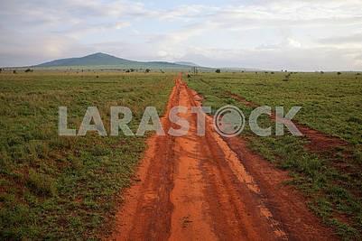 Грунтовая дорога в Кении