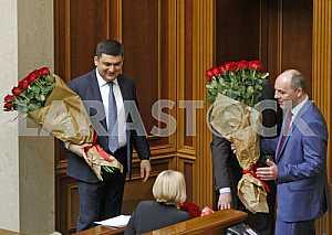 Премьер-министр Украины Владимир Гройсман и спикер Андрей Парубий