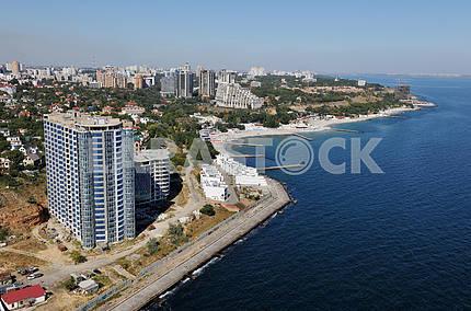Одесса. Аэрофотосъемка. Побережье в Аркадии 27 сентября 2011 года