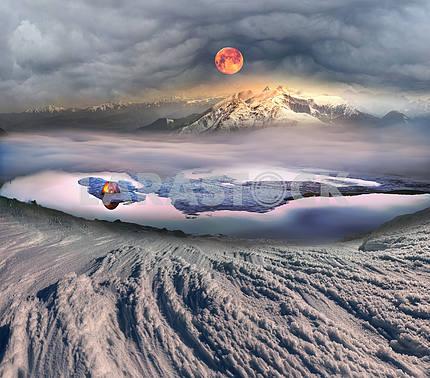 Туристы ночевать на льду