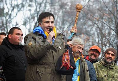 Михеил Саакашвили в Мариинском парке