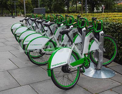 Велостоянка в Бергене