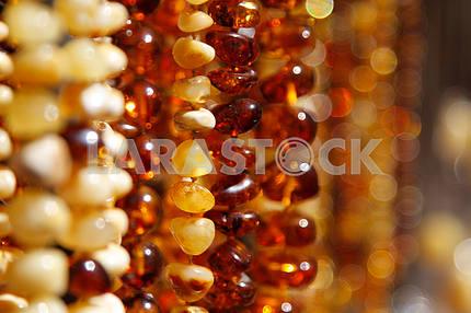 Янтарные бусы на ярмарке в Люблине