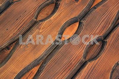 Коричневые доски из натурального дерева