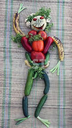 Натюрморт с фруктами и овощами