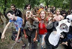 Марш зомби в Киеве