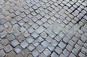 Гранит мощеной фон тротуар