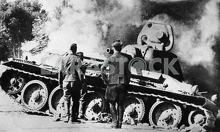 Сжигание танка Т-34