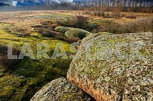 Большие Валуны, место выхода на поверхность массивной глыбы нижнепротерозойских гранитов, покрытые мхом