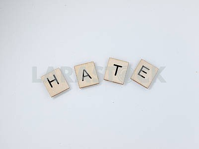 Hate Wooden Letters