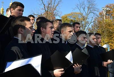 Семинаристы на Софийской площади
