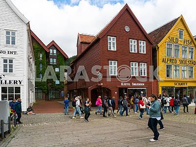 Деревянные дома в Бергене