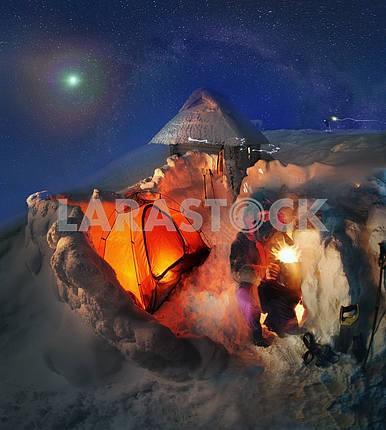 Высотный лагерь на горе Говерла