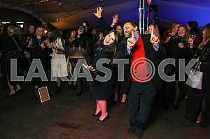 Валерий Чигляев с женой на 10-летии журнала «Фокус»