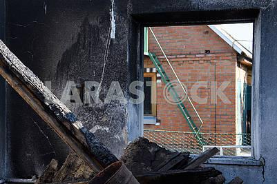 Разрушенные дома в Павловке