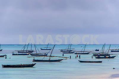 Рыбацкие лодки в Индийском океане