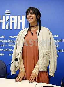 Джамала на пресс-конференции