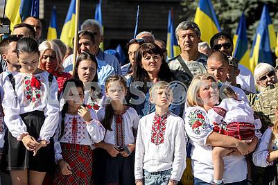 Празднование Дня флага Украины