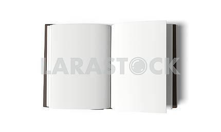 Пустая белая книга на белом фоне в 3D-рендеринг