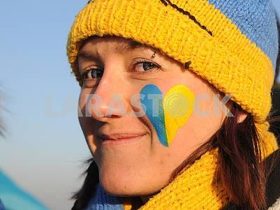 Участники акции «Объедини берега Днепра «живой цепью» Соборности»