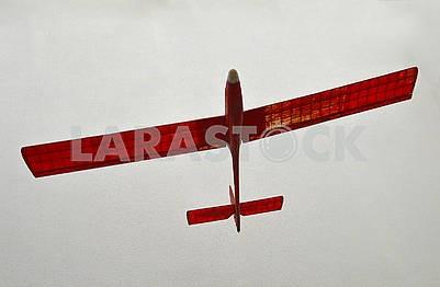 Паперова червона модель літака