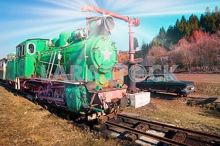 Карпатский старинный поезд