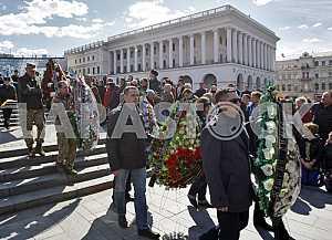 Прощание с погибшем в АТО Дмитрием Годзенко,в Киеве