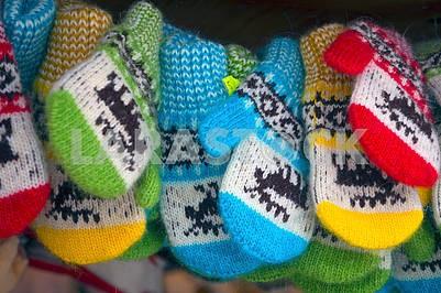 Детские рукавицы на Рождество