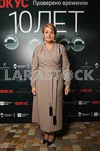 Ирина Данилевская на 10-летии журнала «Фокус»