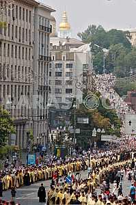 Крестный ход по случаю празднования 1028-й годовщины Крещения Киевской Руси в Киеве.