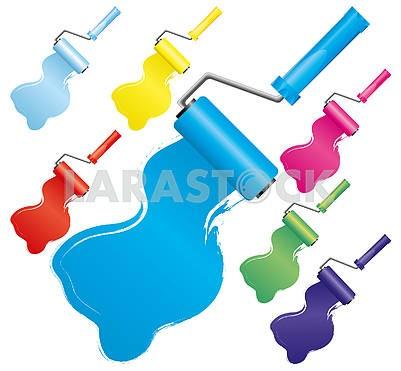 Комплект красочных щеток ролика краски