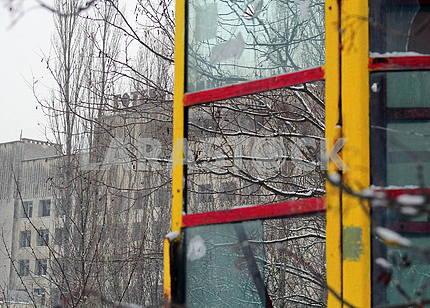 Телефонная будка в Припяти