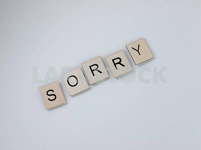 Извините, деревянные письма