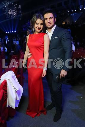 Катя Веласкес и Василий Бондарчук на церемонии награждения M1 Awards 2016