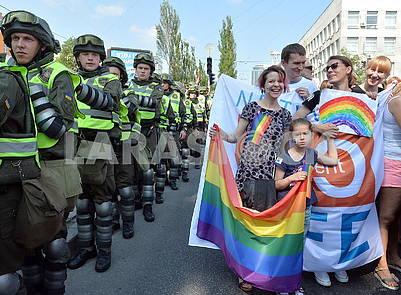 Участники марша равенства