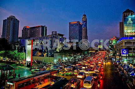 Пробки вечернего Бангкока