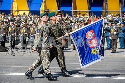 Флаг украино-литовско-польского батальона