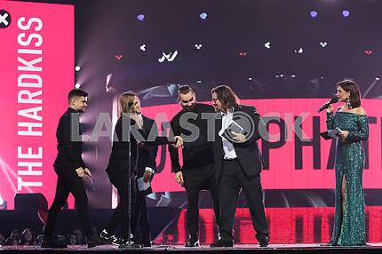 The Hardkiss и Сергей Кузин на церемонии награждения M1 Awards 2016