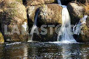 Большие валуны ,Водопад, , монастырище осень,   урочище каскады 2