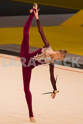 Елена Дяченко упражнение с булавами