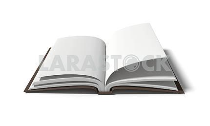 Пустой белая книга на белом фоне в 3D-рендеринга