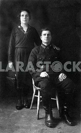 Солдат с женой
