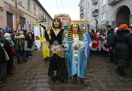 Костюмированное шествие в Черновцах
