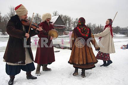 Празднование Крещения в Киеве.