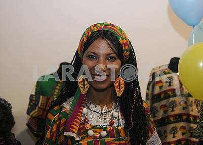 Девушка участница фестиваля