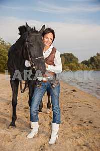 Пастушка и ее лошадь