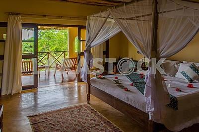 Интерьер спальни в гостинице