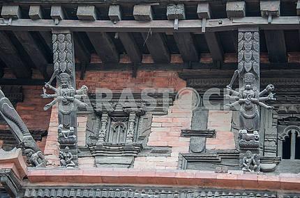 Фрезки храма богини Кумари.