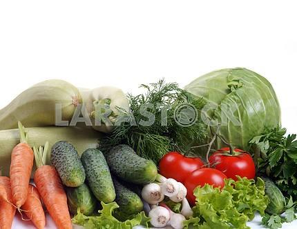 Набор различных овощей
